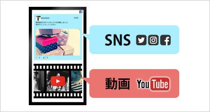 動画(You Tube)を再生しながらSNSの表示も可能
