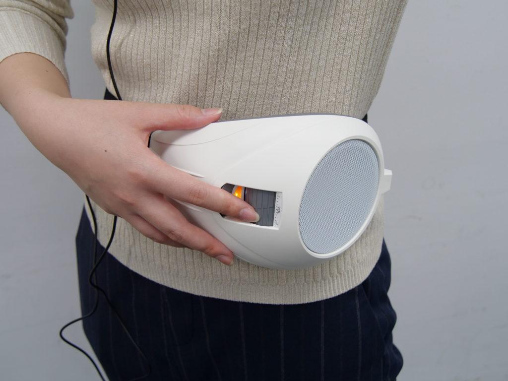 拡声器の音量調節