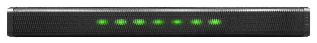 音量調整は緑色に点灯