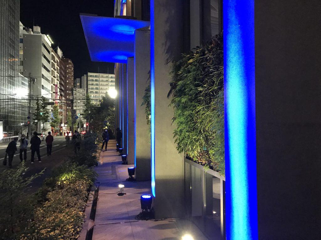 玄関ライトアップのアップ写真